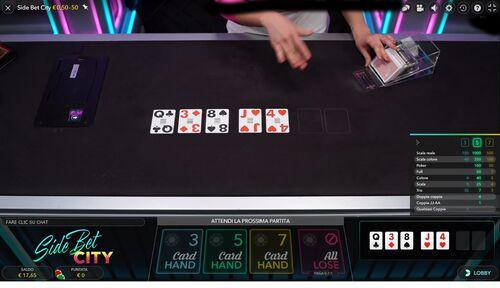 Side bet city 5 card hand